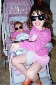 Lauren (3) with baby sister