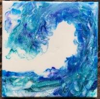 $25 Wave #4 acrylic on canvas 10 x 10